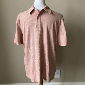 Michael Kors orange/gray polo shirt